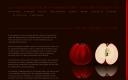 Roter Apfel auf schwarzer Spiegelfläche
